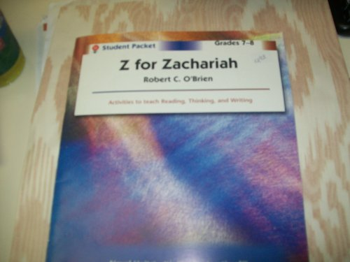 essays on z for zachariah Z for zachariah is a post-apocalyptic science-fiction novel by robert c o'brien  that was published posthumously in 1974 the name robert c o'brien was the.