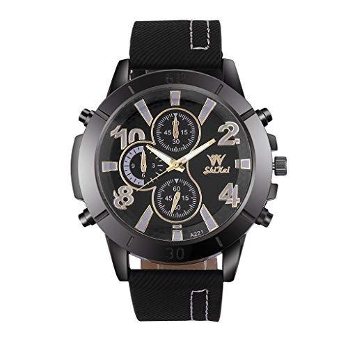Business Watch for Men Analog and Digital,LYN Star❀♪ Boy's Fashion Business Quartz Watch with Brown Leather/Mesh -