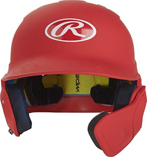 Rawlings MACHEXTR-S7-SR 2019 Mach Baseball Batting Helmet, Matte Scarlet by Rawlings