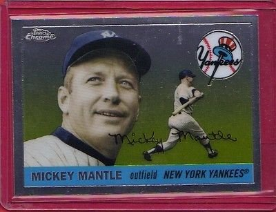 2007 Topps Chrome Mickey Mantle Story #MMS55 Mickey Mantle