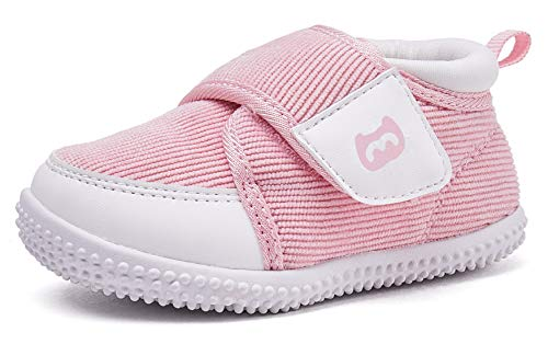 BMCiTYBM Baby Shoes Boy Girl Infant Sneakers Winter Warm Non Slip First Walkers 6 9 12 18 24 Months Pink Size 5