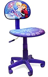 Frozen Rolling Task Chair for Kids Office Adjustable Swivel Seat to Sit and Study Ideal Girls Gift