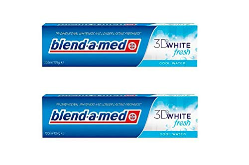 2x Blend A Med 3D White Fresh Cool Water Toothpaste 2 x 100m