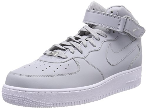 Nike Men Air Force 1 Mid 07 Trainers Grey (Wolf Grey/Wolf Grey-white 046)