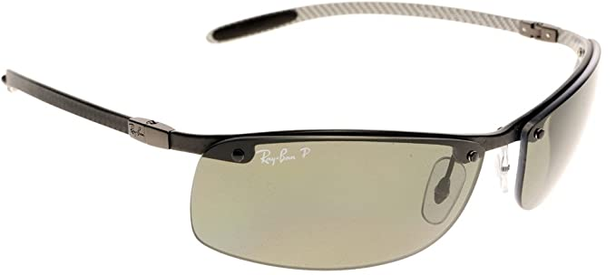 81b692ddc7 Ray-Ban 8305 Carbon Lite Light Carbon Polarised Sunglasses Green - size One  Size