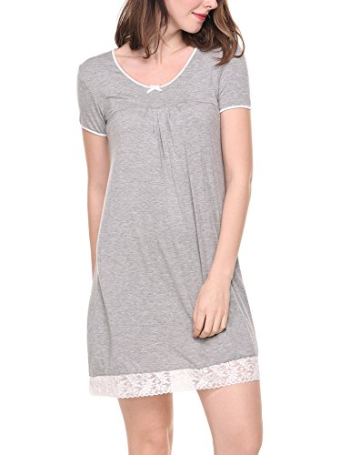 HOTOUCH Womens Nightgown Scoopneck Sleepwear