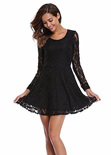black lace dress mini - 7