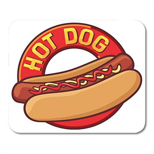 Nakamela Mouse Pads Cookout Red Hotdog Hot Dog Bun American Mouse mats 9.5