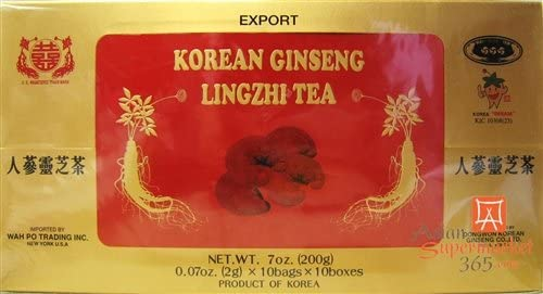 Korean Ginseng Lingzhi Tea 0.07oz * 10bags*10boxes