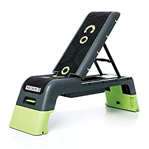 Escape Fitness Multi Purpose Fitness Station Deck for Step, Weight Training, Bootcamps, and More in Black