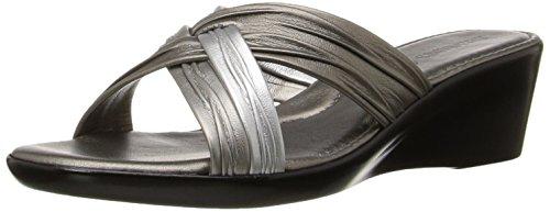 ITALIAN Shoemakers Women's 162m Wedge Sandal, Pewter Multi, 11 M (Multi Wedge Sandal)