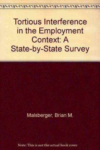 Tortious Interference: State-by-State Survey, 2nd Edition