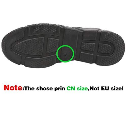 de Primavera Zapatos Verano Zapatillas Running Gym Deportes Cordones Casual Malla Hombre QinMM otoño Negro para Respirable dO4wqOn0