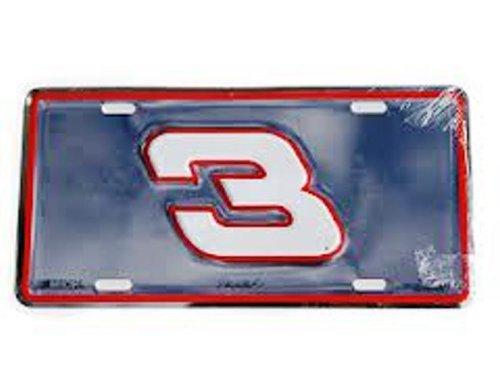 Dale Earnhardt Nascar #3 Metal License Plate (Plate License Dale Earnhardt)