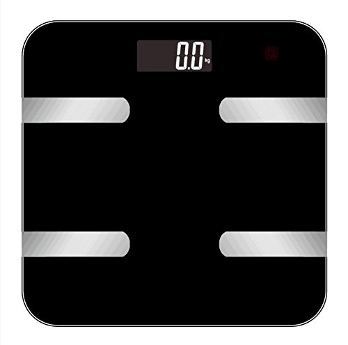 Smart Bluetooth Body Fat Digital Weight Scale by Balance High Precision Weight Measurements 396 lbs Black by QJR