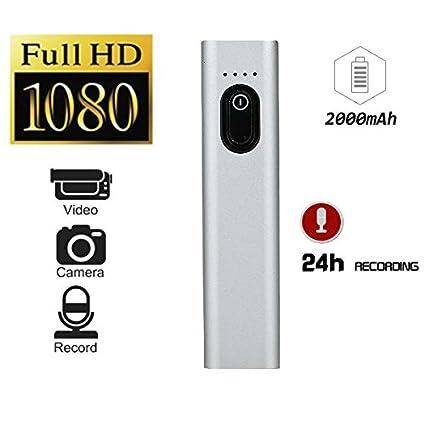 Hangang Mini cámara oculta de espía oculta, Full HD 1080P Cámaras S100 de potencia móvil, ...
