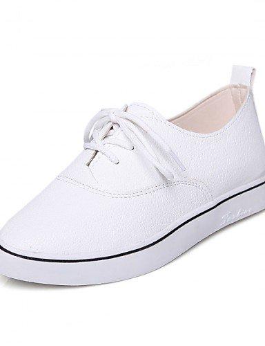 us5 5 5 2016 us8 Zapatos eu36 Oxfords Negro uk6 eu39 cn39 eu39 uk3 us8 Casual white white mujer Plataforma Creepers uk6 Deporte Semicuero cn35 Blanco ZQ Exterior de cn39 black f4xqwdSf