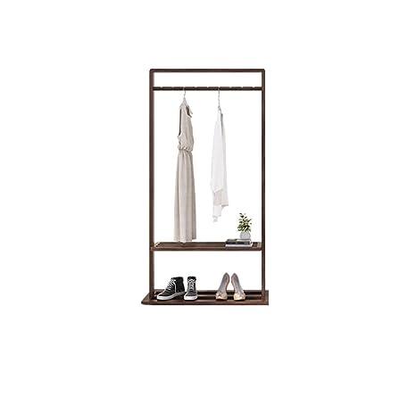 Amazon.com: WYQSZ - Perchero de madera maciza para el hogar ...