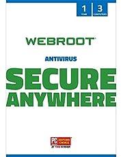 WEBRC Webroot SecureAnywhere Antivirus 1 Year 3 Device (3-Users)