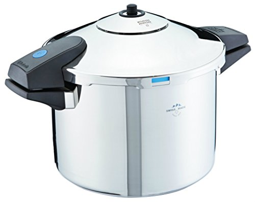 Kuhn Rikon 30902 Duromatic Pressure Cooker with Bluetooth Capabilities, 8 L, Stainless Steel by Kuhn Rikon