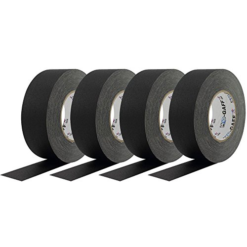 Light Riggers Pro Black Gaffers Tape 4 Pack