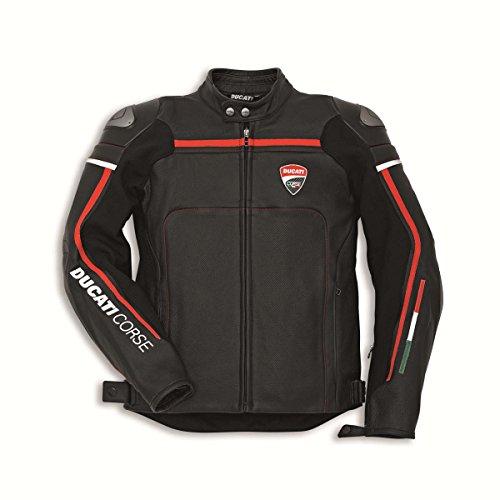 Ducati 981030052 Corse C2 Leather Riding Jacket - Black - Size 52