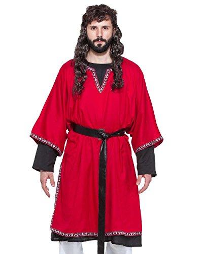 (Medieval Renaissance Pirate Viking LARP Mens Costume Snorre Viking Tunic)