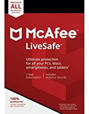 DIGITAL DOWNLOAD MCAFEE LIVESAFE 10 DEVICES - VIA EMAIL 12 Month Subscription for all Windows 7/8 / 10 - For New and Existing Customers NOTHING POSTED, IGNORE SHIPPING READ PRODUCT DESCRIPTION
