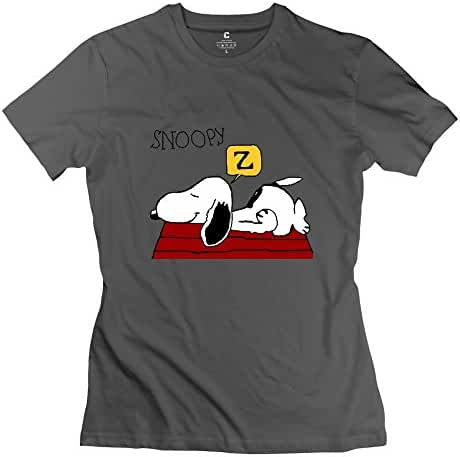 StaBe Women's Snoopy Sleeping Dog House T-Shirt Short Sleeve Vintage