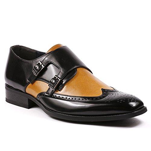 Buy mens fashion brown dress shoes - 3