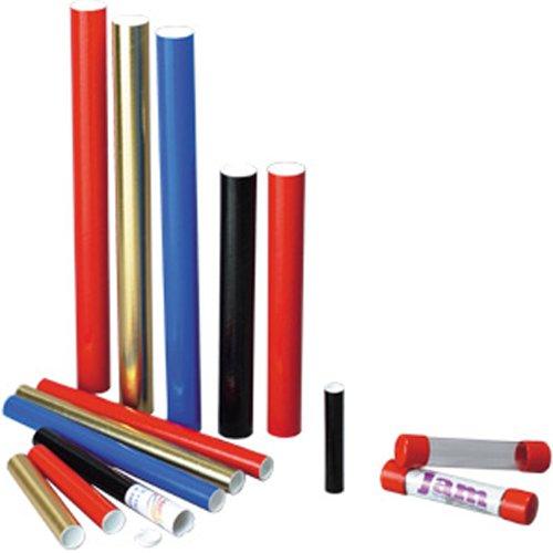 JAM Paper Mailing Tube - 1 1/2'' x 9 1/4'' - Black - 50/pack