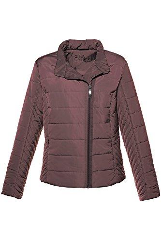 548bd4667e79 GINA LAURA Damen Jacke Steppjacke Kurz Asymmetrischer Rv Aubergine  w90CAGFmo ...