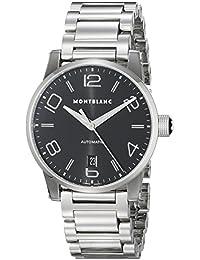 Timewalker Date Automatic Men's Black Dial Stainless Steel Swiss Watch 105962
