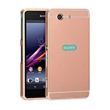 Mirror Cover For Sony Xperia Z3 Compact SO-02G Aluminium Metal Back Case Cover-【Pink】