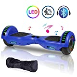 EPCTEK Hoverboard Self Balancing Electric Scooter 6.5'' Two-Wheel UL 2272 Certified hoverboards for Kids with Bluetooth Speaker LED Light Flashing Lights on Wheels