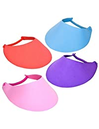 Rhode Island Novelty 12 Foam Visors with Coil Bands, Assorted Colors, New, Sun Hat, Craft Foam,