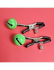 1 paar nippel klem sex bell borstklemmen clip labia klem stimulatie niet piercing nippel ringen sieraden for vrouwen (Color : Green)