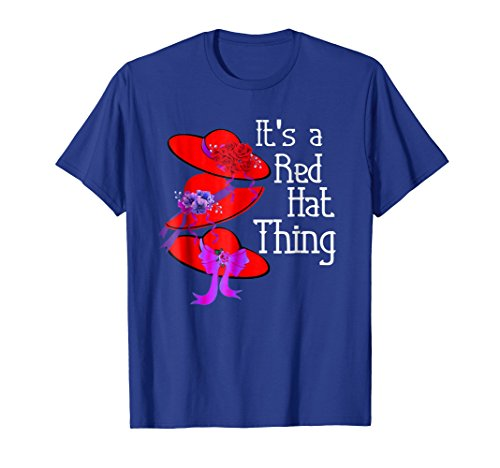Ladies Hat Red T-shirt (Red Hat It's a Red Hat Thing Vintage T Shirt)
