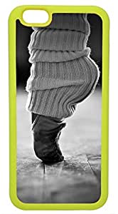 Generic Ballet Dance Foot Black and White Cell Phone Case for iPhone 6 Rubber Yellow