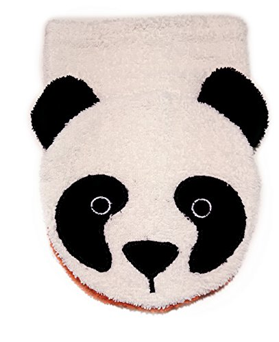 100 Cotton Finger Puppets (Organic Cotton, Washcloth Mitt Panda Bear Puppet, Large by Furnis)