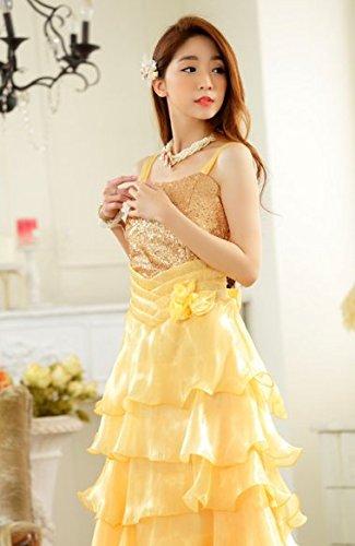Da Yellow Lungo Plaer Prom Abito Fresh Sera Big Cocktail Principessa Sposa Swing TF13lKuJc