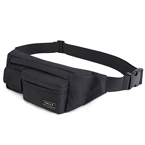 TINYAT Travel Fanny Pack Hiking Waist Pack Bum Bag Running Bag Super Lightweight for Women and Men, Tool Kit T212