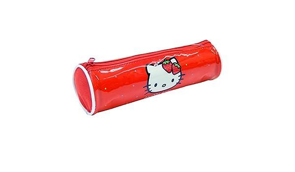Amazon.com: Hello Kitty Estuche Tela Cilindro Hello Kitty ...