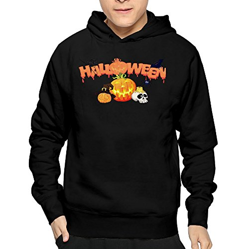 Men's Halloween Party Clip Art Hoodie Sweatshirt Funny Pullover