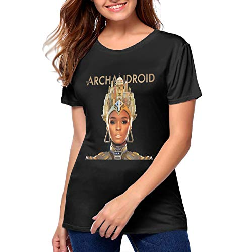Janelle Monae Women's T-Shirt Comfy Soft Casual Tops for Women Black -