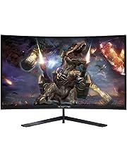 "Sceptre 24"" Curved 144Hz Gaming LED Monitor Edge-Less AMD FreeSync DisplayPort HDMI, Machine Black (C248B-144RN)"