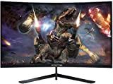 "Sceptre 27"" Curved 144Hz Gaming LED Monitor Edge-Less AMD FreeSync DisplayPort HDMI, Metal Black 2019 (C275B-144RN)"