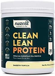 Nuzest Clean Lean Protein - Premium Pea Protein Powder, 100% Plant-based, Vegan, Dairy Free, Gluten Free, GMO