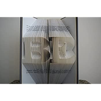 Amazon Com Folded Book Art Paper Anniversary Gift For Him Or Her
