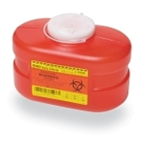 Becton Dickinson One-Piece Sharps Collector, 3.3 qt, Red, Vented Cap,Case of 24